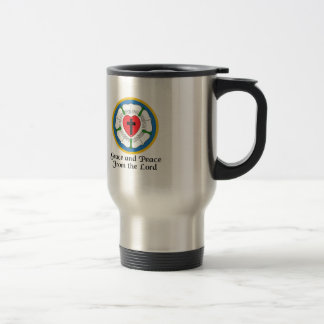 GRACE AND PEACE STAINLESS STEEL TRAVEL MUG