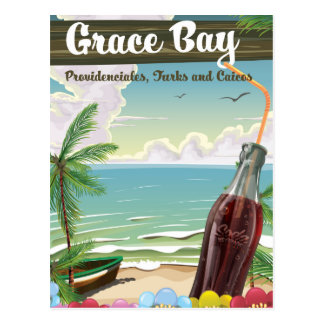 Grace Bay, Providenciales, Turks and Caicos Travel Postcard