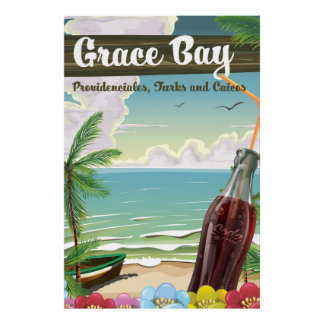 Grace Bay, Providenciales, Turks and Caicos Travel Poster