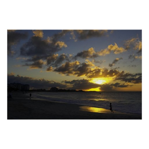 Grace Bay sunset 01 Poster