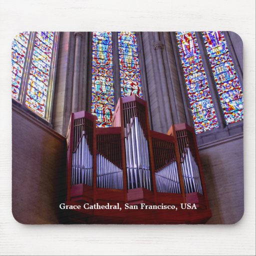 Grace Cathedral organ mousepad