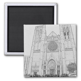 Grace Cathedral Square Magnet