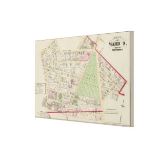 Grace Church Cemetery Atlas Map Canvas Print
