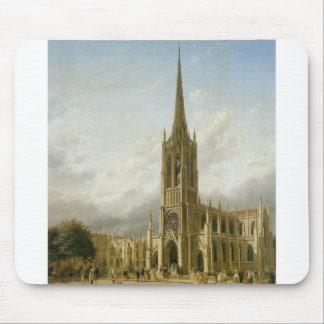 Grace Church, New York circa 1858 Mouse Mat