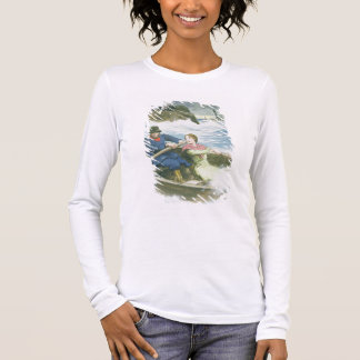 Grace Darling (1815-41) and her father rescuing su Long Sleeve T-Shirt