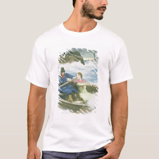 Grace Darling (1815-41) and her father rescuing su T-Shirt