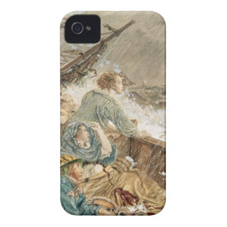 Grace Darling and her father saving the shipwrecke iPhone 4 Case-Mate Case