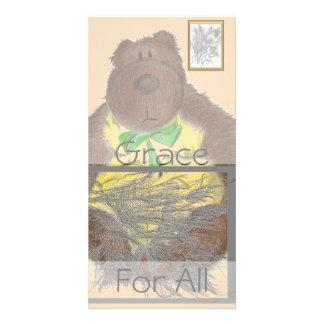 Grace For All Bear Customised Photo Card