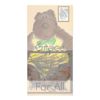 Grace For All Bear Picture Card