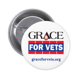 Grace For Vets 6 Cm Round Badge