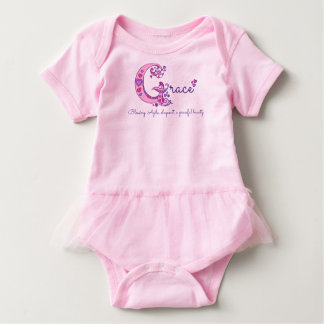 Meaning of the name grace gifts t shirts art posters other grace girls g name meaning monogram baby baby bodysuit negle Image collections