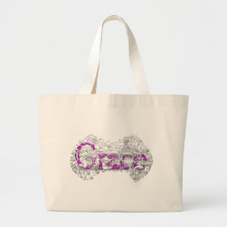 Grace name art with purple name by Dick skilton Tote Bags