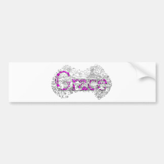 Grace name art with purple name by Dick skilton Bumper Sticker