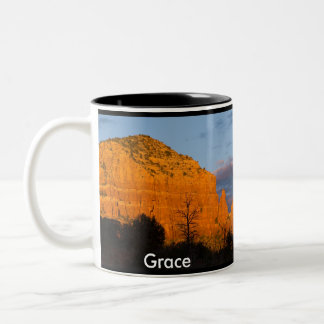 Grace on Moonrise Glowing Red Rock Mug