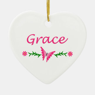 Grace (Pink Butterfly) Christmas Ornament