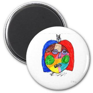 Grace Self-Portrait 6 Cm Round Magnet
