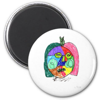 Grace Self-Portrait Green 6 Cm Round Magnet