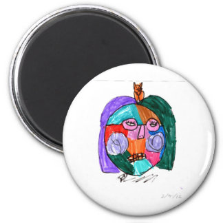Grace Self-Portrait Purple 6 Cm Round Magnet