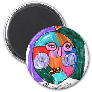 Grace Self-Portrait Purple 6 Cm Round Magnet