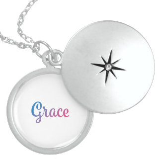 Grace Stylish Cursive Locket Necklace
