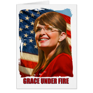 Grace Under Fire Greeting Card