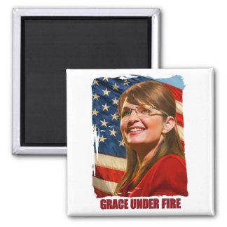 Grace Under Fire Square Magnet