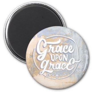 Grace upon Grace 6 Cm Round Magnet
