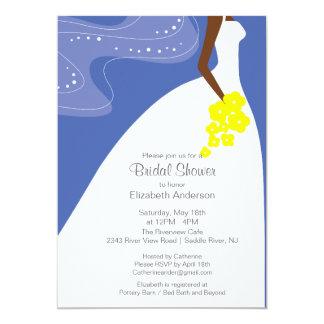 Graceful African American Bride Bridal Shower Custom Invitations