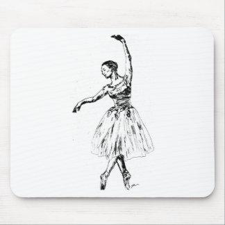 graceful ballarina mouse pad