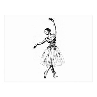 graceful ballarina postcard
