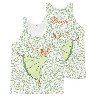 Graceful Ballerina All-Over Print Tank Top