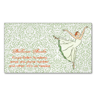 Graceful Ballerina Magnetic Business Cards