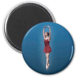 Graceful Ballerina On Pointe Magnet