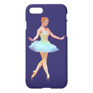 Graceful Ballerina with Red Hair iPhone 7 Case