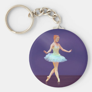Graceful Ballerina with Red Hair Key Chains