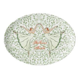 Graceful Ballerinas Porcelain Serving Platter