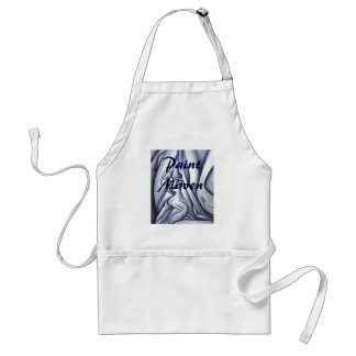 Graceful Blue Cloth Abstract Standard Apron