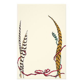 Graceful Feathers in Shades of Autumn II Customised Stationery