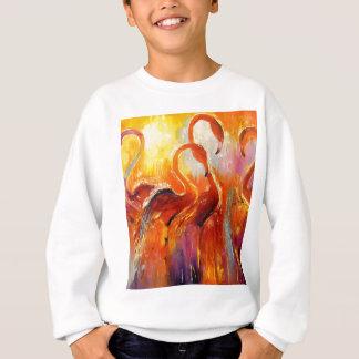 Graceful flamingos sweatshirt