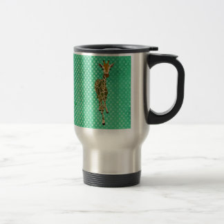 Graceful Giraffe Pokadot Travel Mug