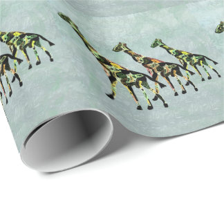 Graceful Giraffes Wrapping Paper