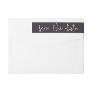 Graceful Glow EDITABLE COLOR Save The Date Label