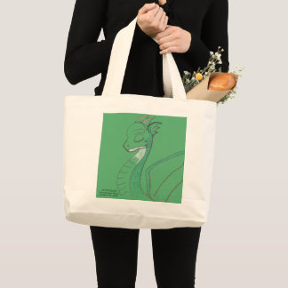 Graceful Green Dragon Tote Bag