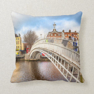 Graceful Ha'Penny Bridge - Dublin, Ireland Throw Pillow