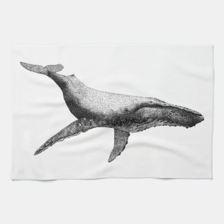 GRACEFUL HUMPBACK WHALE TEA TOWEL