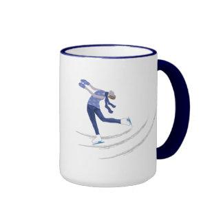 Graceful Ice Skater Coffee Mugs