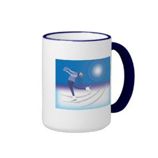 Graceful Ice Skater Ringer Coffee Mug