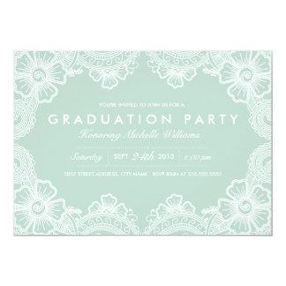 Graceful Lace Grad Party Invitation