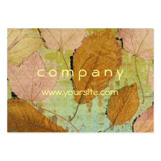 Graceful Leaves Pack Of Chubby Business Cards