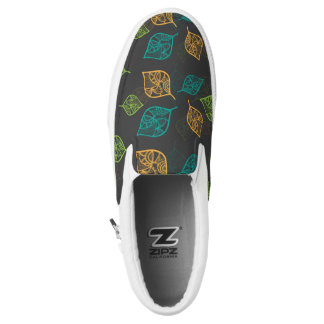 Graceful Leaves Pattern Slip On Shoes